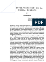 INterpretacion del Barroco