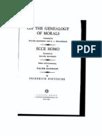 Friedrich Nietzsche, Second EssayGuilt Bad Conscience and the Like