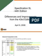 Tom Lawrence API 5L 43rd vs 44th Differences