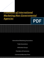 Promotion of International Marketing by Non-government Agencies
