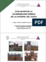 Sismicidad Catedral de Cusco