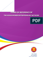 TERMS OF REFERENCE OF THE ASEAN WOMEN ENTREPRENEURS' NETWORK