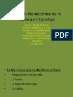 An+ílisis biomec+ínico de la t+®cnica de Canotaje