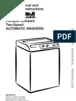 Kenmore Portable Compact Washing Machine Manua