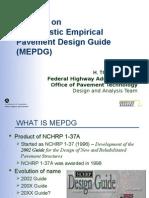 Updates on Mechanistic Empirical Pavement Design Guide MEPDG
