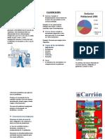 Triptico sobre la Migracion en el Peru