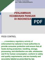 penjaminan keamanan pangan ri