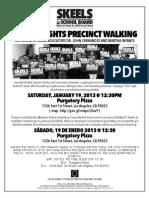 Boyle Heights Precinct Walking Robert D. Skeels for LAUSD School Board