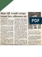 Illinois State Bill would ravage Tenant Law, Alderman David Orr says