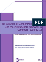 The Evolution of Gender Policies, Laws and the Institutional Framework in Cambodia (1993-2011)
