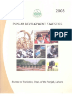 Punjab Development Statistics 2008