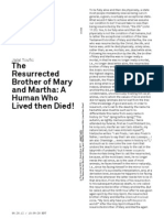 Jalal Toufic, The Resurrected Brother of Mary and Martha, A Human Who Lived Then Died!
