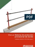 manual construcción barandillas
