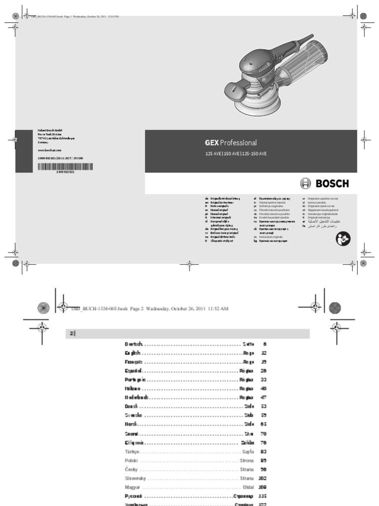 Plato de lija 125 mm pack de 1 mittel Bosch 2 608 601 173