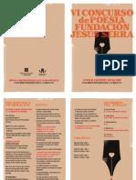 Folleto Concurso Poesia FJS 2013. Castellano