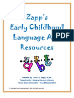 Zapp's Early Childhood Language Arts Resource Packet