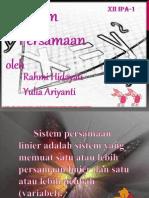 Rahmi Hidayati Dan Yulia Ariyanti (Sistem Persamaan ) Asli