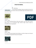 Struktur mineral pengamatan mikroskop
