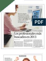 Los profesionales más buscados en 2013