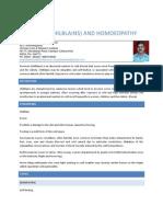 Perniosis (Chilblains and Homoeopathy
