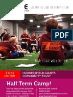 Rugby Half Term Camp