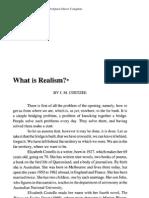 Coetzee What is Realism