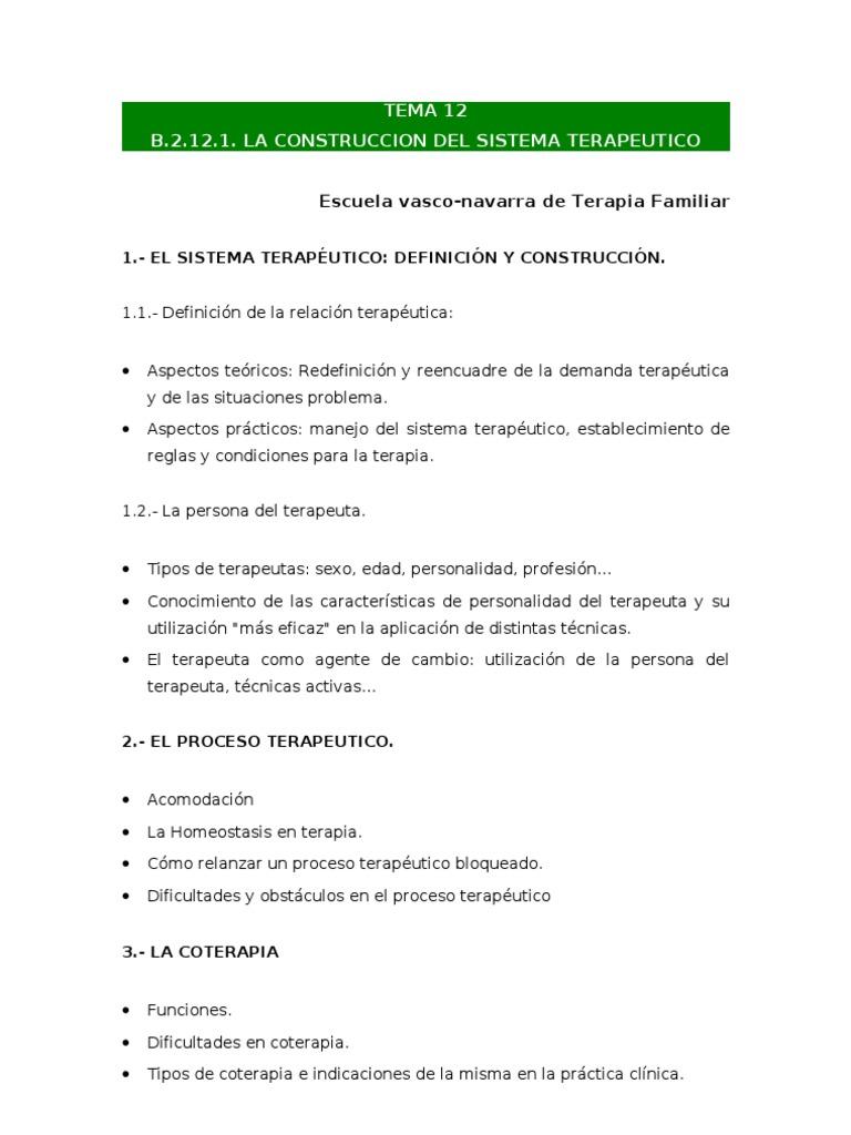 B.2.12.1 La Construccion Del Sistema Terapeutico - EVNTF