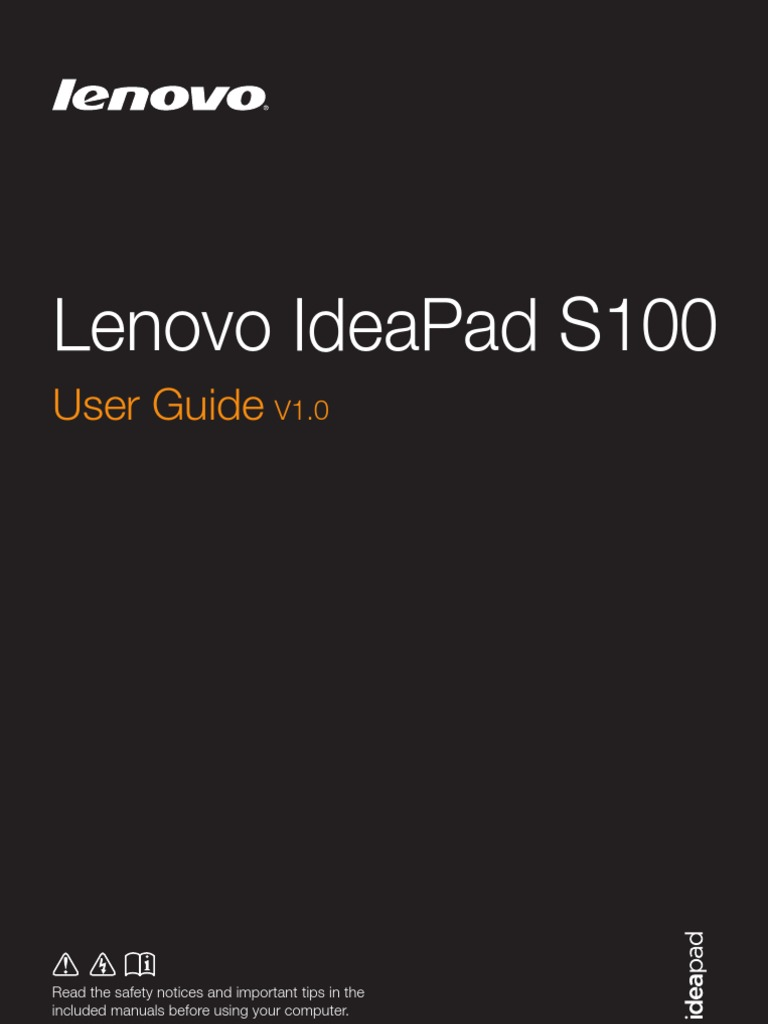 Lenovo Ideapad S100 User Guide V10 English Wiring Diagram