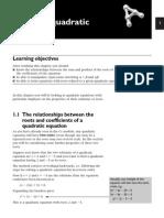 Roots of Quadratic Function