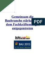 Heinz Von Heiden Initiative Deutschland Baut Auf Der Bau 2013 PDF