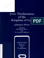 1892 - Johannes Weiss - Jesus' Proclamation of the Kingdom of God