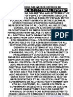 Political and Electoral System Reforms for Better Society....