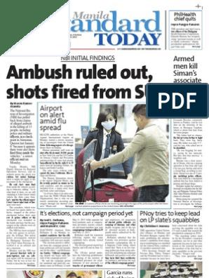 Manila Standard Today Tuesday January 15 2013 Issue