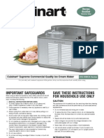 Cuisinart Ice Cream Maker Instructional Booklet