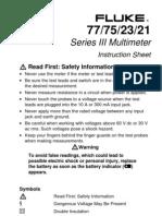 77,75,23,21 Series III Instruction sheet