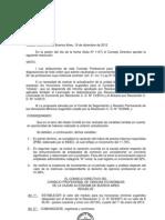 Resc. CD 12-2012Incremento del valor Módulo de Honorarios Mínimos Sugeridos CABA