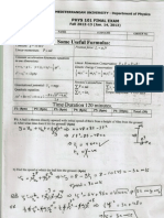 PHYS101 FINAL EXAM SOLUTIONS 2012-2013