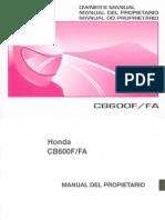 Manual Del Propietario Honda CB600F-1