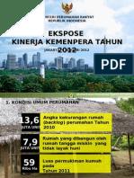 Ekspose Kinerja Kementerian Perumahan Rakyat Tahun 2012