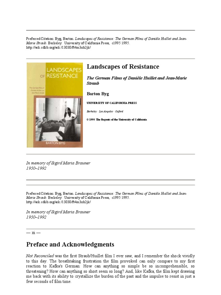 Avis Sur Le Site Home24 barton byg - landscapes of resistance ~ the german films of