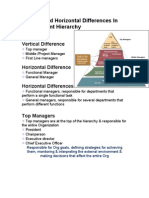 differences in management hierachy