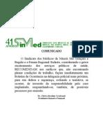 Comunicado dos Médicos de Niterói, São Gonçalo e Região