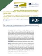 A interpretação de cognições e emoções