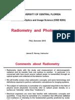 4.0 Radiometry Photometry