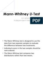 Mann Whitney U Test
