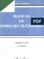 Manual de Derecho Sucesorio - Jorge Maffia.