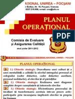 CEAC Unirea-Plan Operational