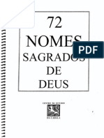 72 NOMES SAGRADOS DE DEUS