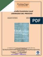Desarrollo Económico Local. LIDERAZGO DEL PROCESO (Es) Local Economic Development. LEADERSHIP OF THE PROCESS (Es) Tokiko Ekonomi Garapena. PROZESUAREN LIDERGOA (Es)