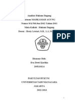Analasis Hukum Dagang Putusan MAHKAMAH AGUNG Nomor 8 K/Pdt.Sus/2012 Tahun 2011